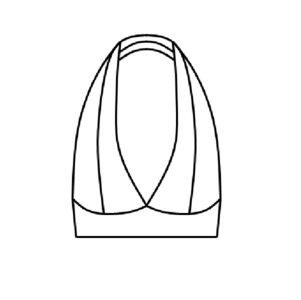 Patroon voor een latex bralette haltertop jurkje