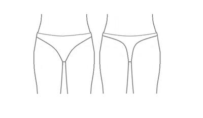 Patroon voor een latex dames string