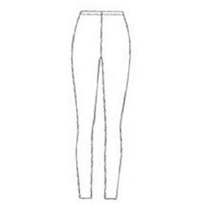 Patroon voor een eenvoudige latex legging om zelf latex kleding te maken