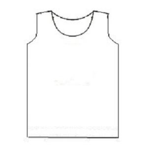 Eenvoudig makkelijk patroon voor een latex tanktop hemd hempje