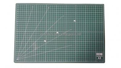 Snijmat a3 zelfsluitend groen cm inches graden dubbelzijdig flexibel 3 lagen