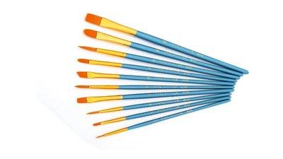 setje goedkope kwasten kwastjes penselen van nylon verschillende breedtes afmetingen
