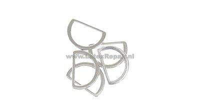 D ringen zilver groot en klein 10 15 20 30 mm prym 555230 555220 01