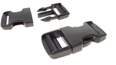 pvc zwart insteeksluitingen 10 mm 25 mm klik sluiting 01
