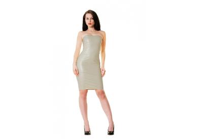 Licht grijs latex  dun en dik stevig glimmend latex om zelf latex kleding te maken en te repareren per meter groothandel