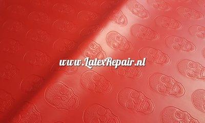 Latex sheet doodskop 3d relief om zelf latex catsuit te maken 01