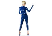 royal blue latex  dun en dik stevig glimmend latex om zelf latex kleding te maken en te repareren per meter jurk repareren