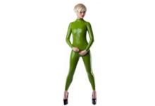 Natuurlijk groen latex  dun en dik stevig glimmend latex om zelf latex kleding te maken en te repareren per meter