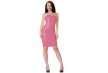 Party pink latex  dun en dik stevig glimmend latex om zelf latex kleding te maken en te repareren per meter klein stukje