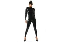 Zwart latex 040 dun latex om zelf latex kleding te maken en te repareren