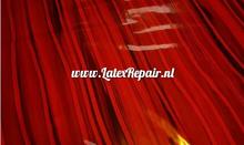 Latex rood zwart gestreept