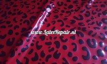 Luipaad leopard tijger print rood zwart sheet latex