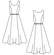 Leuk en makkelijk patroon voor een jaren 50 latex jurk rock en roll grease