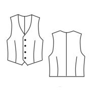 Patroon voor een latex vest hesje colbert pak jurkje