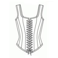 Patroon voor een latex korset corset om zelf te maken makklijk