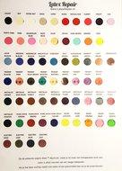 Stalenkaart kaart met stukjes stalen latex rubber kleuren