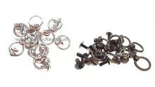 halsband ring met knop zilver zwart brons geweerknop 01