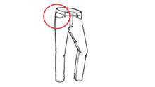 jeans broekzak voorpand maken inzetten latex leren broek zelf cursus workshop